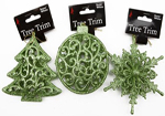 Green 3D Christmas Tree Trims