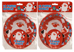 2 Packs of Kids Father Christmas Red Character Bowls