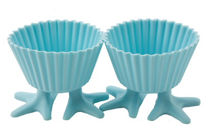 2pc Silly Feet Silicone Cupcake Mould