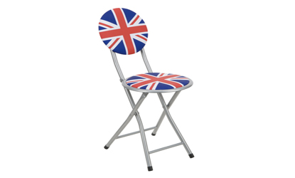 Folding Union Jack Chair